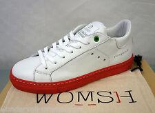 € 159 NUOVO PELLE womsh Sneaker Scarpe Da Ginnastica Tg. 38 Snik BIANCO ROSSO BIANCO ROSSO 3615