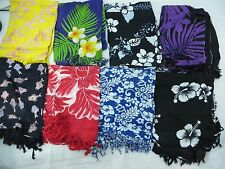 *US SELLER*Lot of 10 batik sarong beach clothing aloha florals plumier hibiscus