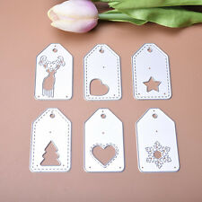Creative Tags Dies Metal Cutting Stencil For Scrapbooking Paper Cards Decor NEW
