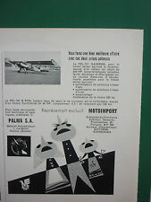 7/1961 PUB MOTOIMPORT POLAND PZL-101 GAWRON PZL-102 B KOS AIRCRAFT FRENCH ADVERT