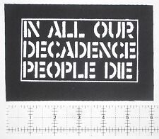 CRASS - DIY Crust Punk Patch Anarcho Antisect Rudimentary Peni Icons of Filth