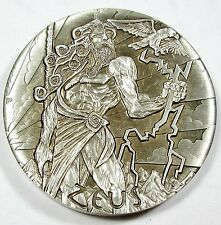 2014 Tuvalu Gods of Olympus Zeus Perth Mint 2 oz .999 High Relief Silver Coin