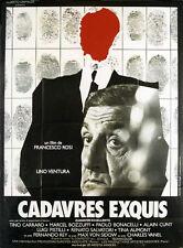 Affiche 120x160cm CADAVRES EXQUIS 1975 ino Ventura, Bozzuffi, Charles Vanel