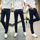 Mens Stylish Wash Slim Fit Skinny Stretch Pencil Leg Denim Casual Pants Jeans