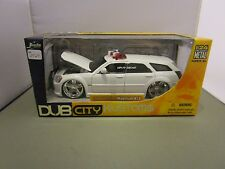 JADA 1/24 DUB CITY WHITE 2006 DODGE MAGNUM R/T UNMARKED POLICE UNIT NEW *VHTF*