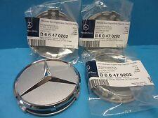 4 Genuine Wheel Hub Cap Mercedes Benz Star OEM# 2204000125 Alloy Wheel Silver