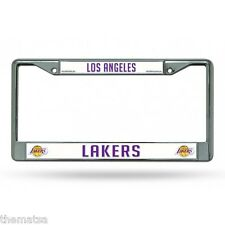 LOS ANGELES LAKERS NBA BASKETBALL CHROME LICENSE PLATE FRAME MADE IN USA