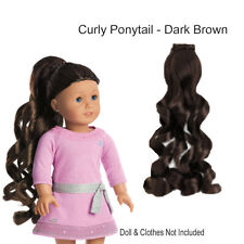 "American Girl MY AG CURLY PONYTAIL DARK BROWN for 18"" Doll Hair Retired NEW"