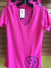Zumba® Made with love vneck t-shirt Size S/M Color Lollipop