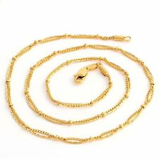 Korean Fashion Womens Gold Filled Yellow Chain Necklace Jewelry 17.5 Inches