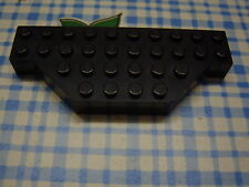 Lego Brick 4x10 without Two Corners 30181 black schwarz Platte 1349 6332 7237