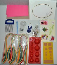 Paper Quilling Kit,Crimper & 5 different tools+7 other items, Jewellery Making