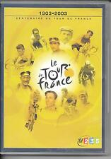 2 DVD ZONE 2--DOCUMENTAIRE CYCLISME--LE TOUR DE FRANCE 1903-2003 LE CENTENAIRE