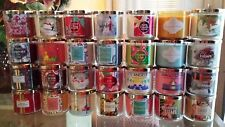 Bath & Body Works 3 wick YOU CHOOSE LOT x4
