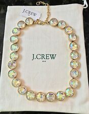 J Crew FACTORY IRIDESCENT CRYSTAL DOTS NECKLACE! Nwt New$59.50 buff iridescent