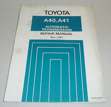 Workshop Repair Manual Werkstatthandbuch Toyota Automatic Transmission A40, A41