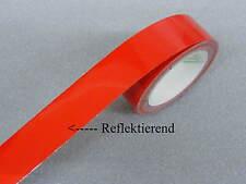 Zierstreifen 7 mm rot reflektierend Zierlinie Dekorstreifen Warnstreifen Reflex