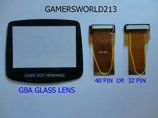 GBA game boy advance ribbon cable backlit adapter ags 101 + glass screen lens