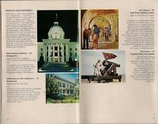 Vtg 1969 ALABAMA Statehood 150th Anniversary Travel Site Guide/Map Advertising++