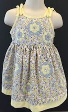 baby clothes, 12 mo. sundress by Beetlejuice, multicolor, flowers & gingham trim