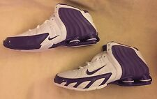 Nike Flight Zoom Air Shox Athletic Sneakers Basketball White/Purple Shoes Mens15