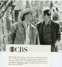 MICHAEL PARE MICHAEL BECK SMILING HOUSTON KNIGHTS ORIGINAL 1987 CBS TV PHOTO