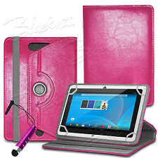 """For 7"""" Android Tablet Tabs - 360° Universal Designer Leather Case Folio Cover"""