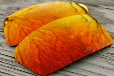 New Polarized Fire Red Mirrored Replacement Sunglass Lenses for Oakley Gascan