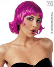 Purple Flicked Bob Wig Funky Emo Raver Gothic Festival Mod Fancy Dress