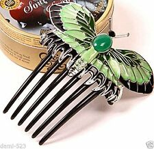 Classic Titanic Heroine Rose Dress Butterfly Comb Replica Hairpin Hair Decor