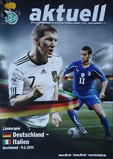 Programma LS 9.2.2011 Germania-Italia in Dortmund