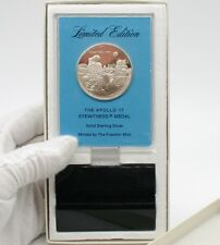1972 APOLLO 17 EYEWITNESS MEDAL BY FRANKLIN MINT SOLID STERLING SILVER