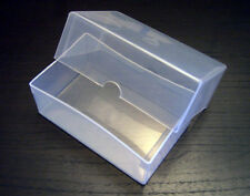 CLEAR PLASTIC BUSINESS CARD / CRAFT / PARTS or BEADS BOX