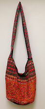 Hmong Hill Tribe Embroidered Red Shoulder Bag