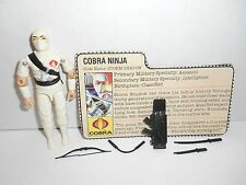 G I JOE COBRA 1984 STORM SHADOW 100% COMPLETE WITH FILECARD BROKEN BOW