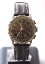 Antique Military Bovet Prima WWII Pilots Chronograph Wristwatch Telemetre 17 Jew