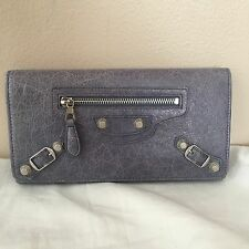 Balenciaga 2012 Jacynthe Purple Giant Money Wallet GSH Silver $555