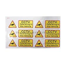 6x Car Taxt Stickers Signs Decal CCTV Operating In This Vehicle Van Coach Yellow