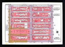1955 Bromley New York City Map Chelsea 14th - 20th Street 7th - 11th Avenue NYC