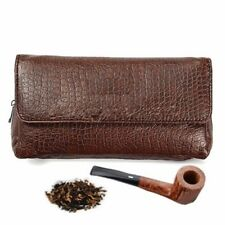 Leather Smoking Pipe Case Savinelli Bag Pouch Tamper Filter Tool Cleaner