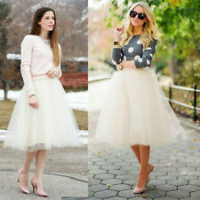 USA Stock! 2017 Spring White Girl Princess Fairy 5 Layers Tulle Bouffant Skirt