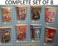Mcdonalds 2014 The Lego Movie Cups - Complete Set Of 8