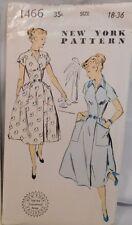 Vintage 40's-50's Wrap Around Dress New York Pattern UNCUT FF Sz 18