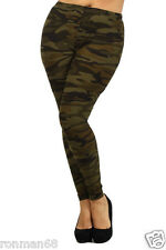 Camo Printed Leggings Womens Plus Size Camouflage Fashion NWT Size 14 - 20