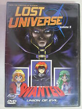 LOST UNIVERSE VOLUME 5: WANTED UNION OF EVIL DVD 2001 ANIME CREATOR OF SLAYERS