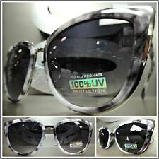CLASSIC VINTAGE RETRO CAT EYE Style SUN GLASSES Rare Gray Marble Fashion Frame