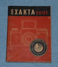 Exakta Guide - W. D. Emanuel - 1952