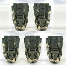 Lot of 5  -  USGI Military MOLLE II Flashbang Flash Bang Grenade Pouch ACU NEW
