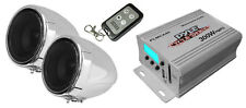 NEW Pyle 300W Motorcycle/ATV MP3/USB Amplifier w/Dual handle-bar Weatherproof