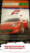 Xbox 360 Forza 4 add-on contentx2: Launch Track Pack & Bonus Car Pack RRP$11.9
